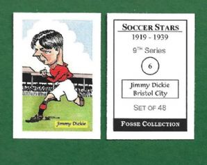 Bristol City Jimmy Dickie 6 (FC)